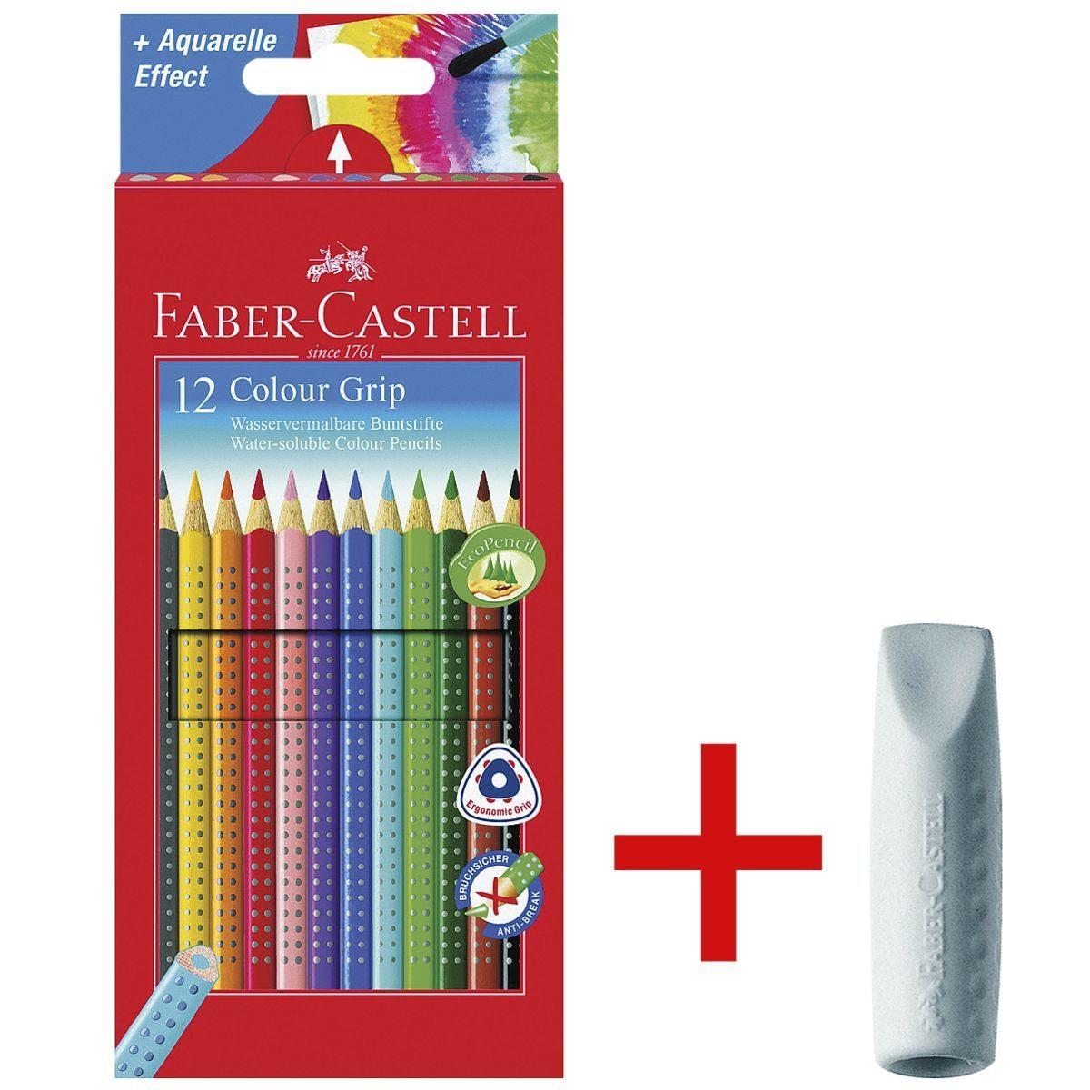 Faber-Castell 12er-Pack Buntstifte »Colour-GRIP« inkl. 2er-Pack R... 1 Set