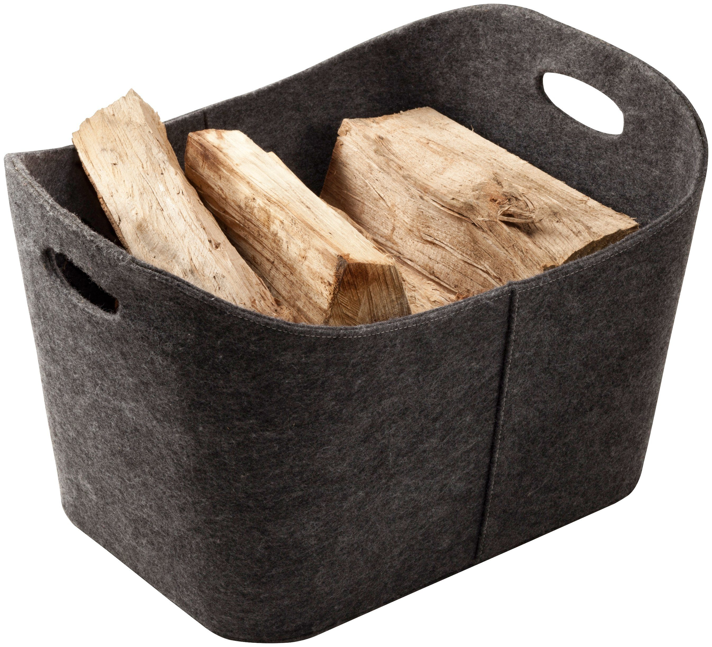 SÜDMETALL Holzkorb aus Filz