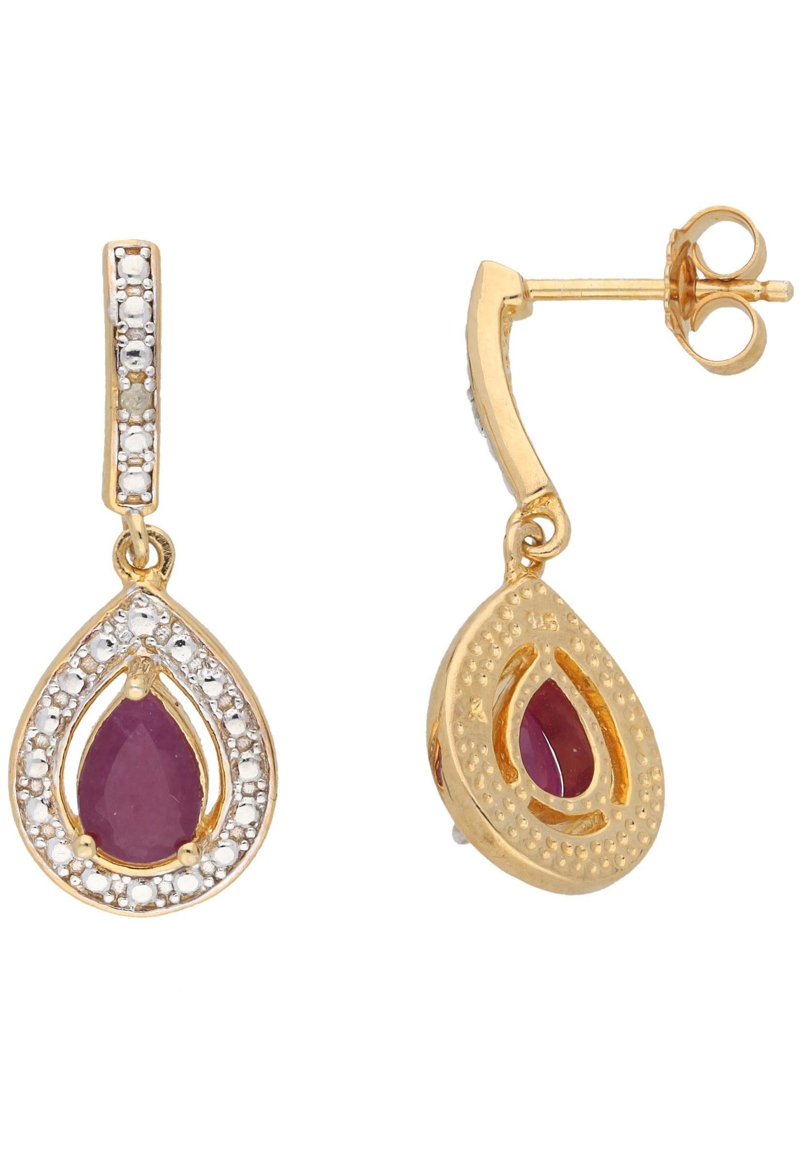 Vivance jewels Paar Ohrstecker, mit Rubinen und Diamanten