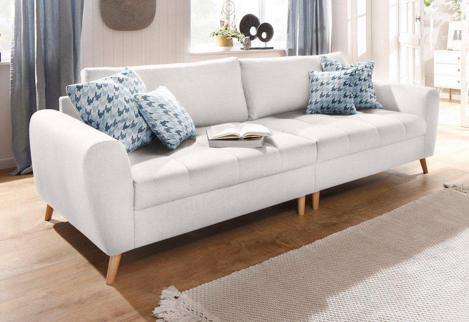 Home affaire Big-Sofa »Jordsand« mit feiner Steppung und vielen ...