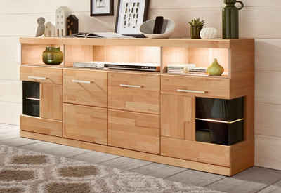 sideboard holz glas. Black Bedroom Furniture Sets. Home Design Ideas
