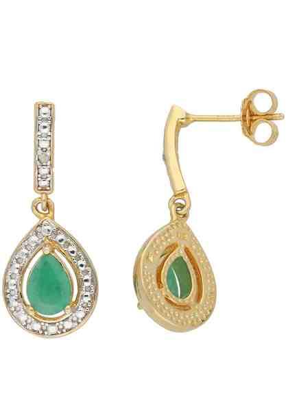 Vivance jewels Paar Ohrstecker, mit Smaragde und Diamanten