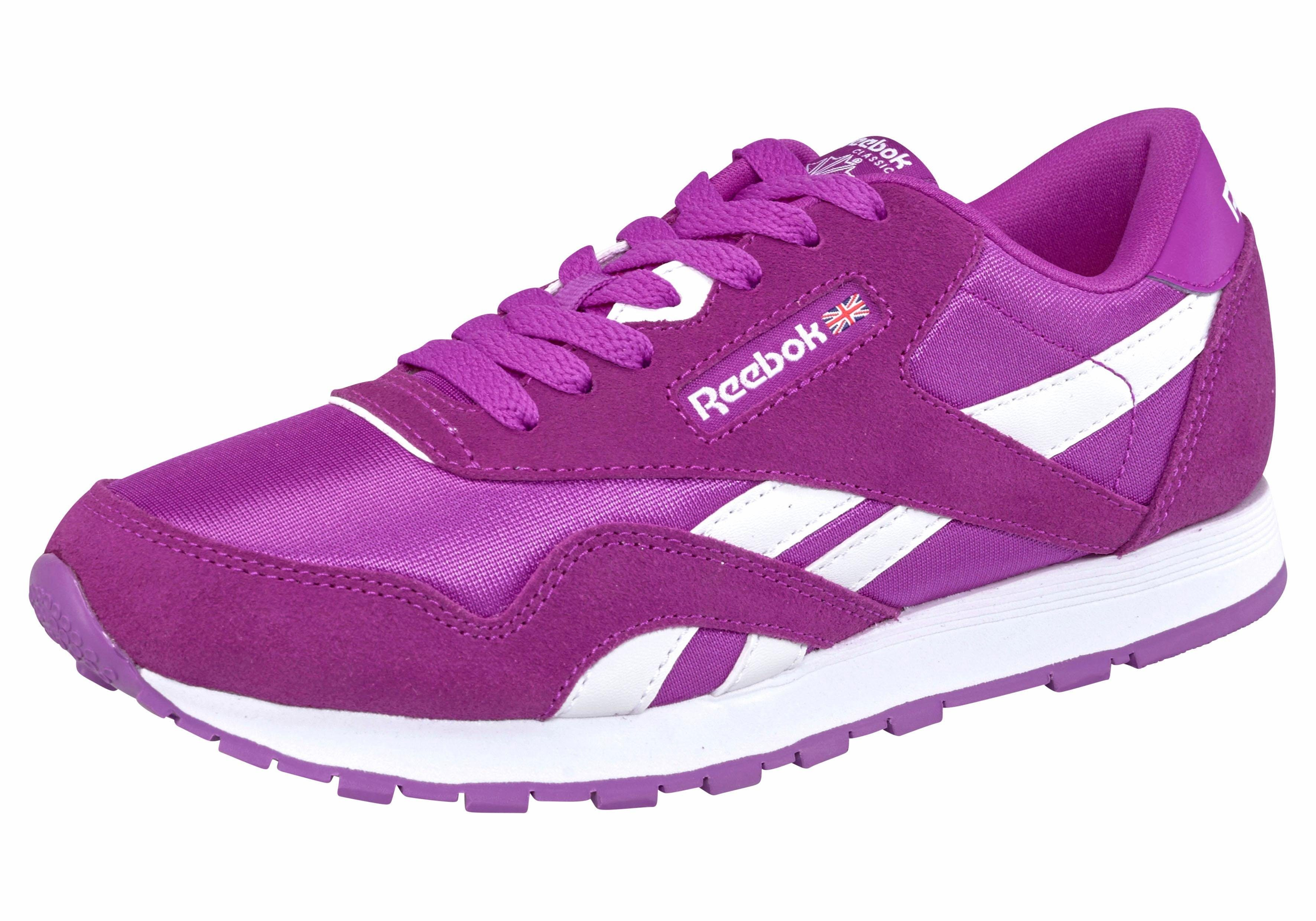 Reebok Classic Nylon J Sneaker online kaufen  lila-weiß