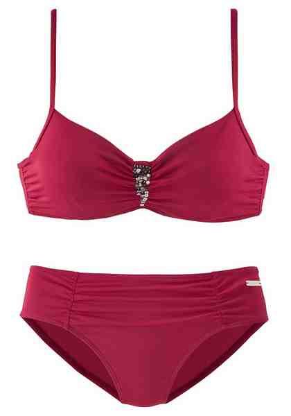 LASCANA Bügel-Bikini mit Pailletten-Verzierung