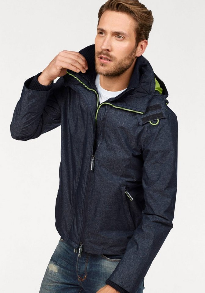 superdry windbreaker pop zip hooded arctic windcheater. Black Bedroom Furniture Sets. Home Design Ideas