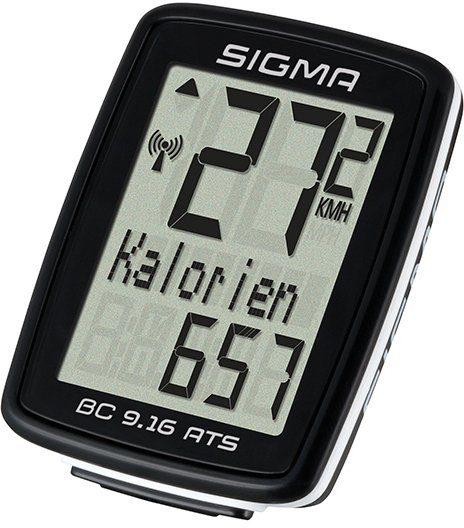 Sigma Sport Fahrradcomputer schwarz, »BC 9.16 ATS«