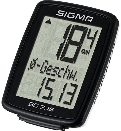 Sigma Sport Fahrradcomputer schwarz, »BC 7.16«