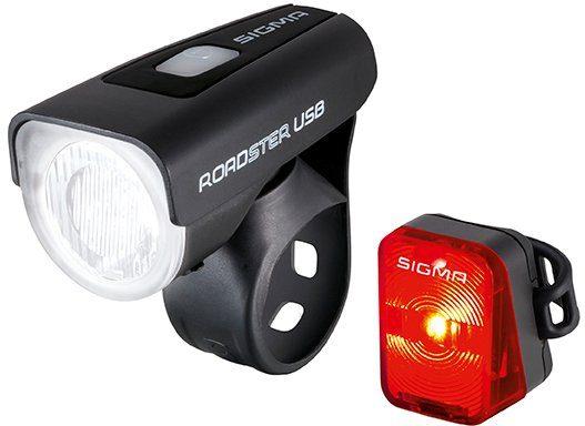 Sigma Sport Fahrradbeleuchtung schwarz, »ROADSTER USB / NUGGET Komplett-Set«