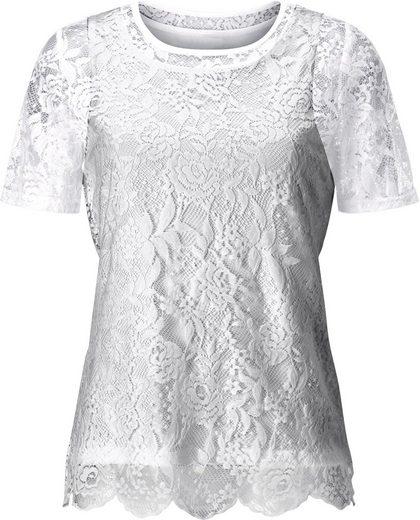 Lady Shirt mit eingenähtem Jerseytop