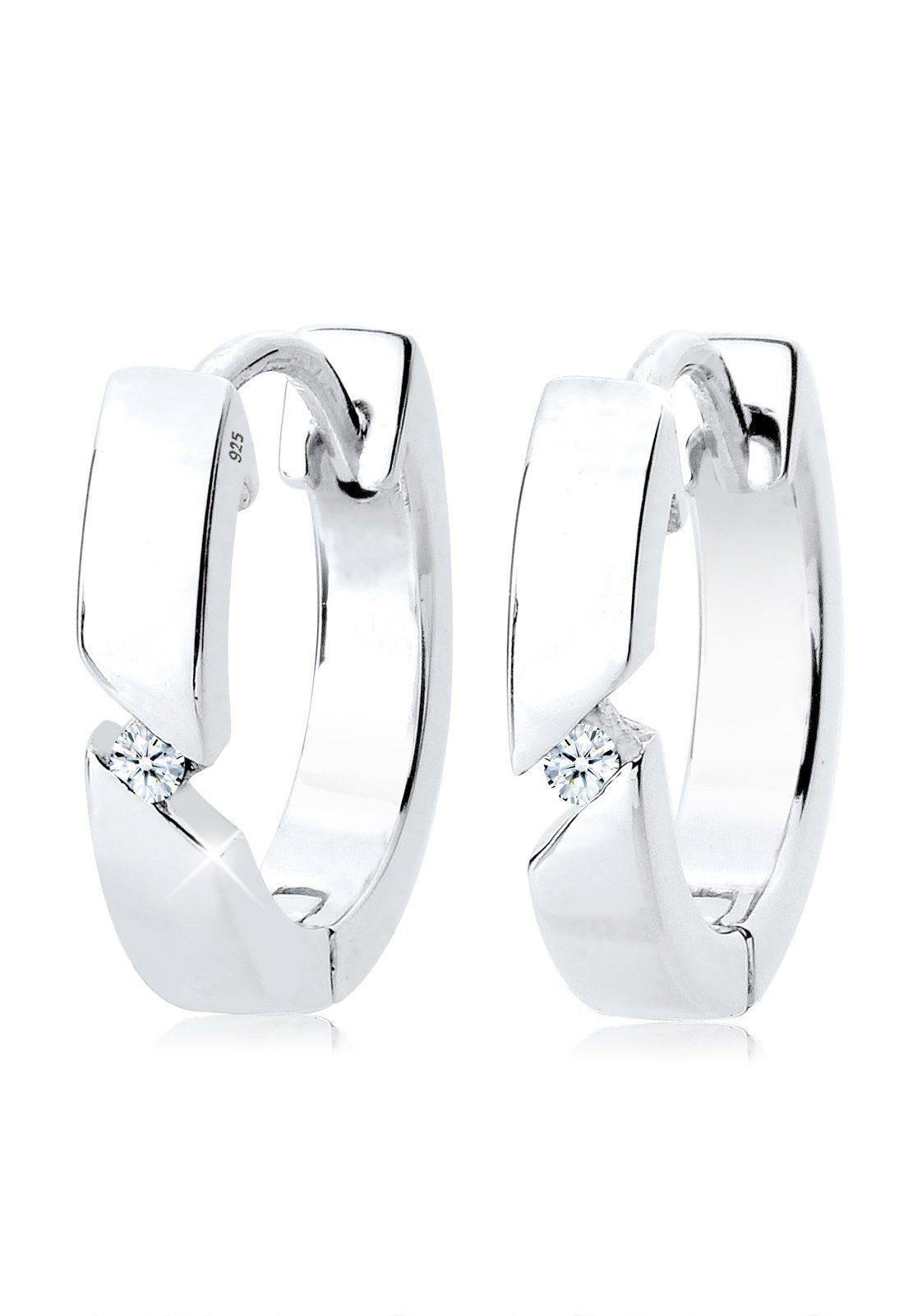 Diamore Ohrringe »Creolen Diamant 0.04 ct. 925 Silber«