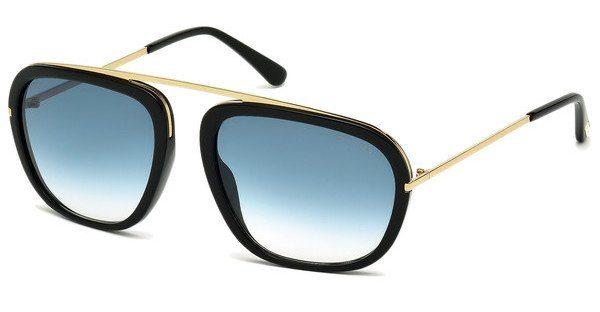 Tom Ford Herren Sonnenbrille »Johnson FT0453«, schwarz, 01P - schwarz/grün