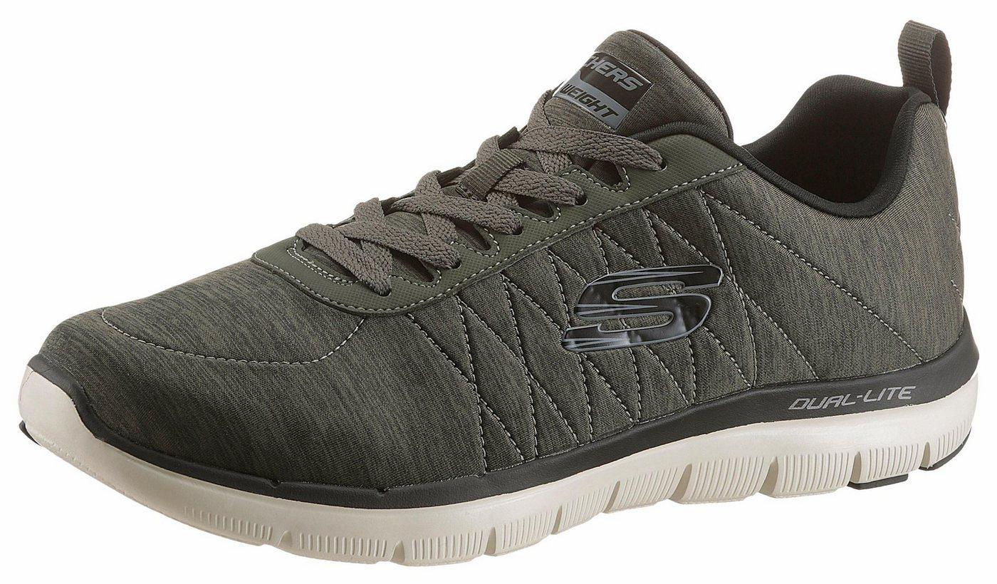 Herren Skechers Sneaker mit stylischem Muster an der Ferse grün | 00190211788108
