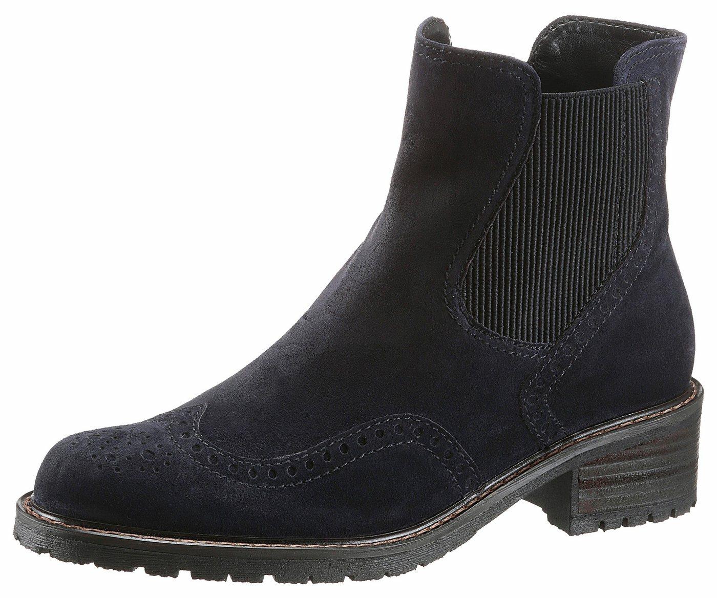 Gabor Chelseaboots Mit typischer Lyralochung | Schuhe > Boots > Chelsea-Boots | Blau | Gabor
