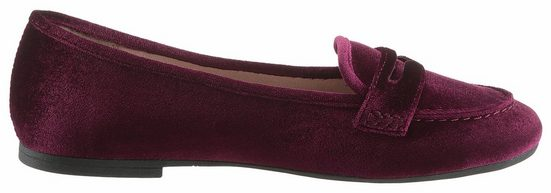 s.Oliver RED LABEL Loafer, in angesagter Samtoptik