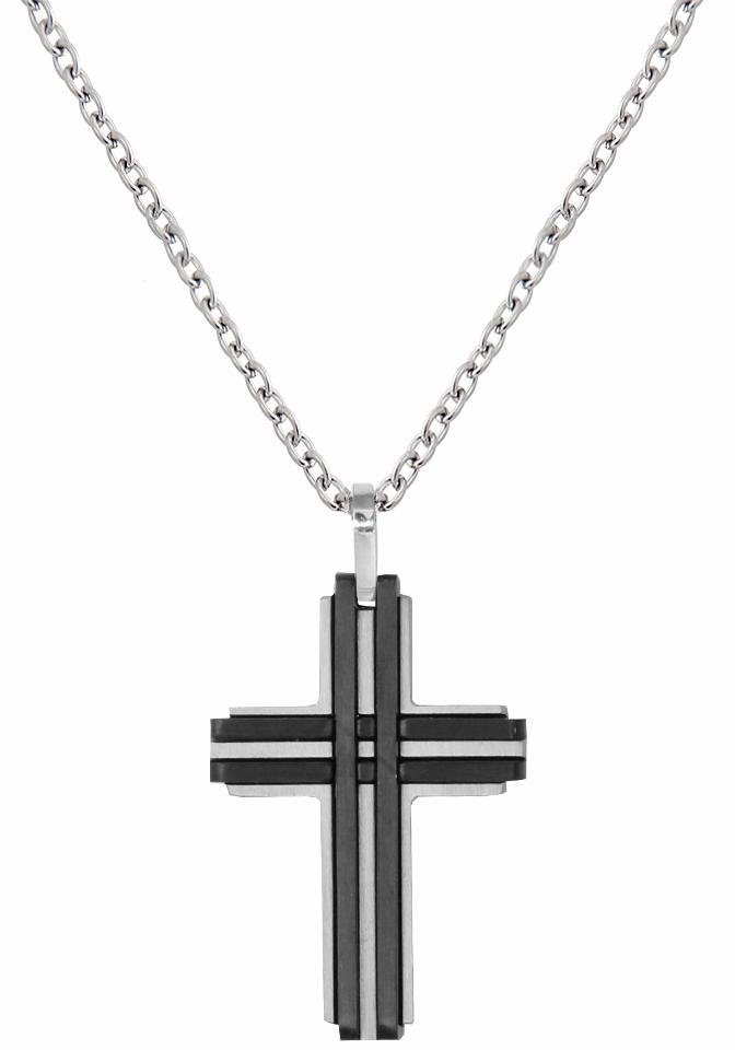 XENOX Kreuzkette »Kreuz, men, X2635« | Schmuck > Halsketten > Kreuzketten | Schwarz | XENOX