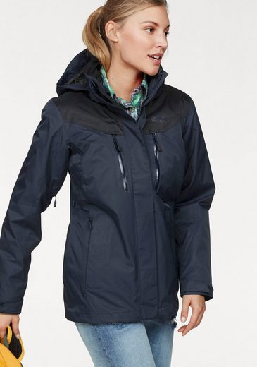 Jack Wolfskin 3-in-1-Funktionsjacke JASPER 3IN1 WOMEN (Set, 2 tlg), aus der 3-in-1-Short-Systemserie
