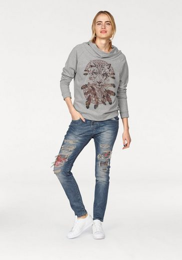Please Jeans Sweater, mit Frontprint