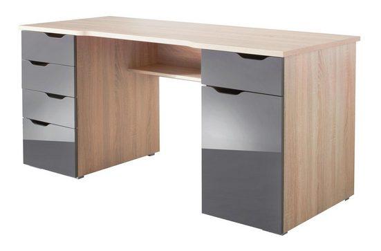 Maja Möbel Schreibtisch »Cuba«, mit geschwungener Schreibtischplatte