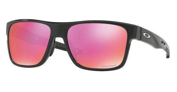 Oakley Herren Sonnenbrille »CROSSRANGE OO9361«, schwarz, 936113 - schwarz/blau