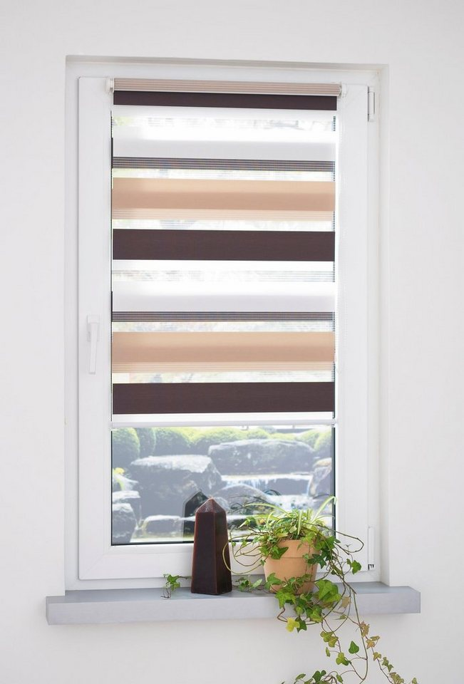 doppelrollo dreifarbig liedeco lichtschutz ohne bohren online kaufen otto. Black Bedroom Furniture Sets. Home Design Ideas
