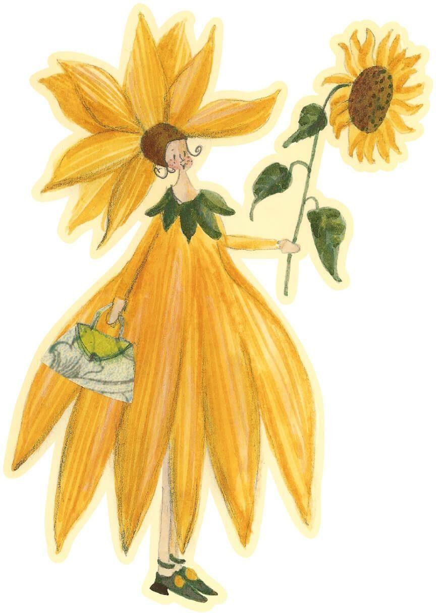 Wandtattoo, »Leffler-Sonnenblumenmäd.«, 28/40 cm
