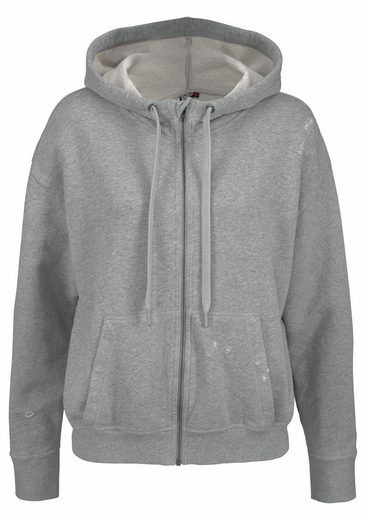 Reebok Kapuzensweatjacke DISTRESSED HOODIE, im Used Look