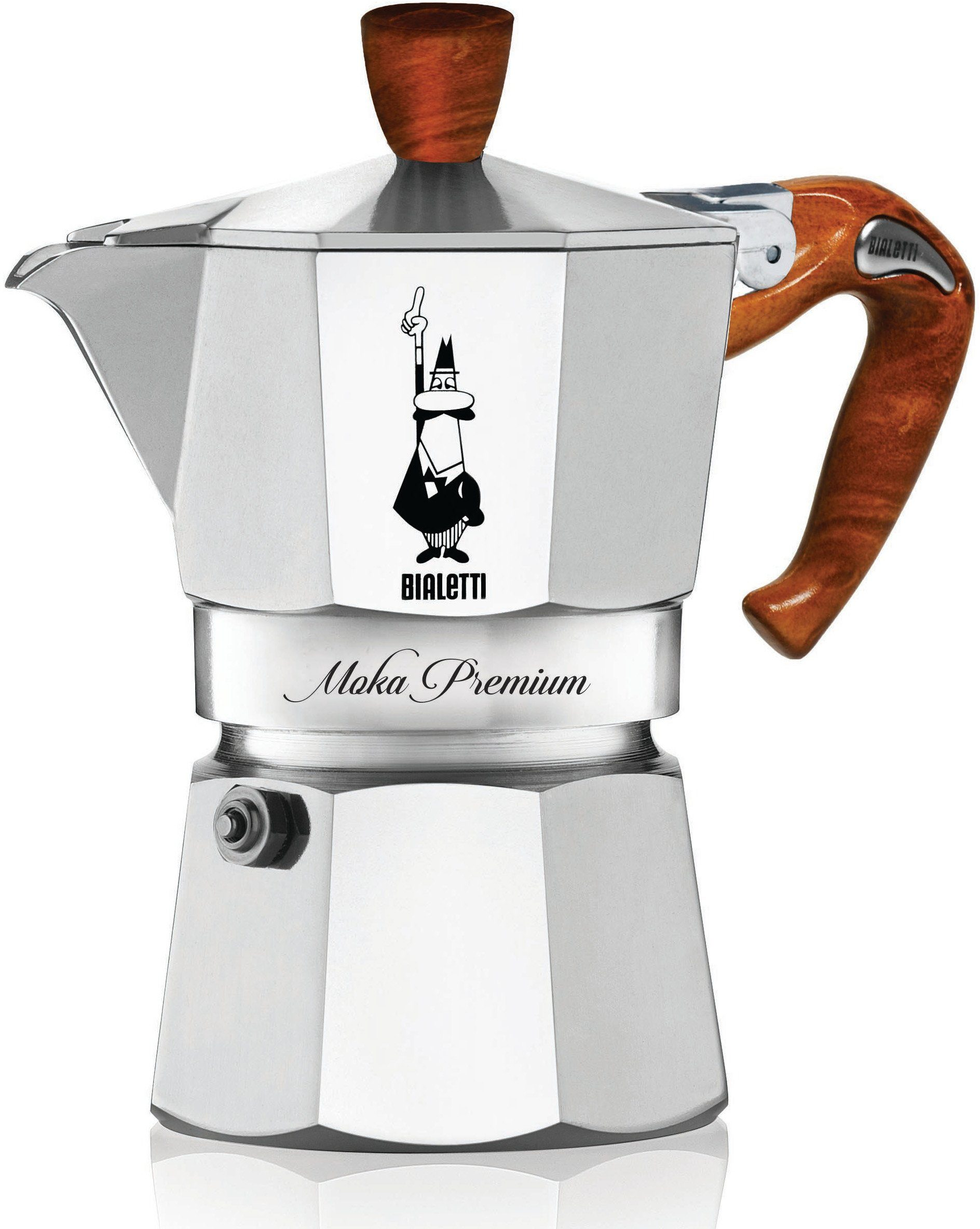 BIALETTI Espressokocher, Aluminium, Holzimitat-Griff, 6 Tassen, »MOKA EXPRESS«
