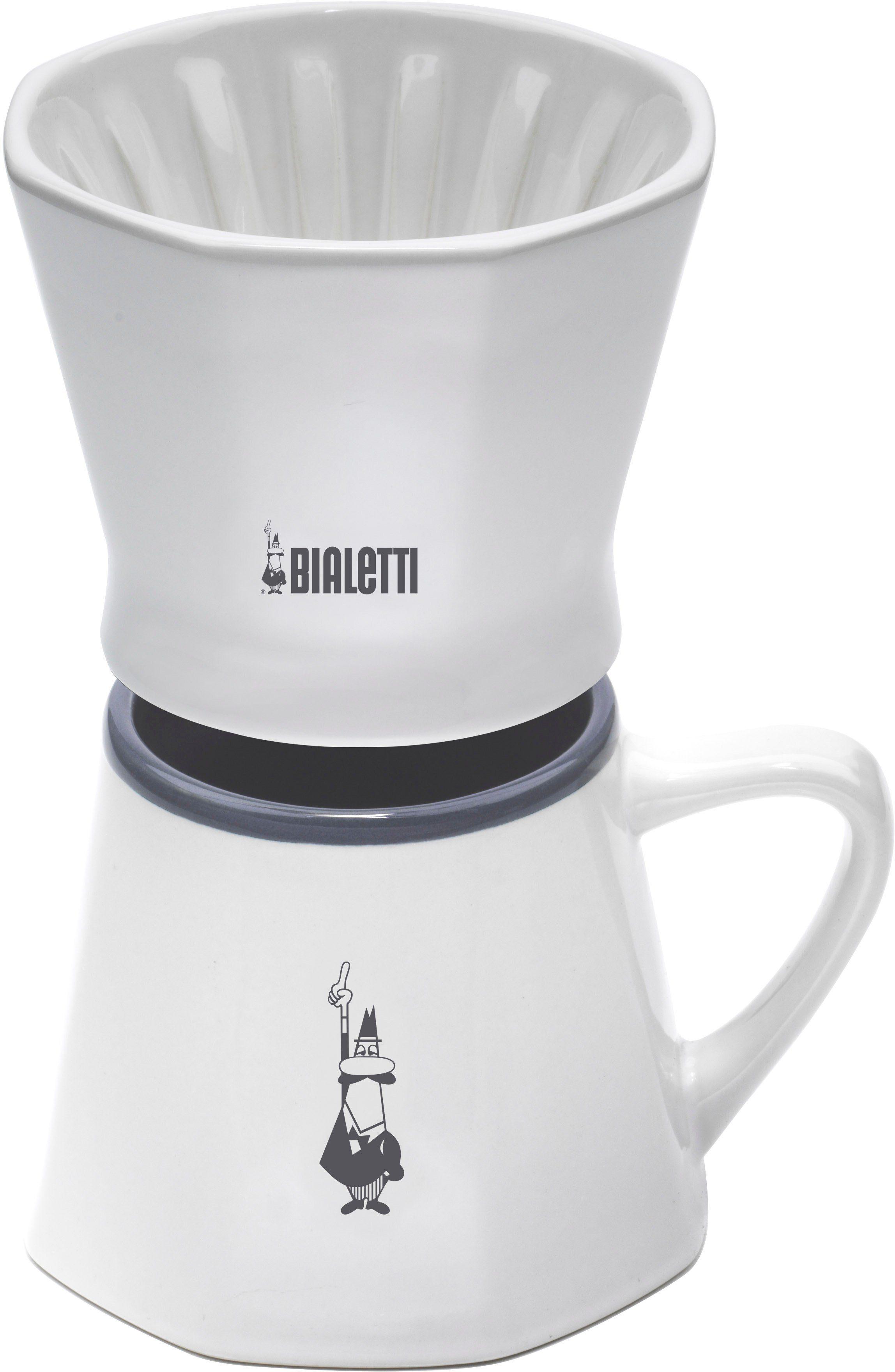 BIALETTI Kaffeetasse mit Filterausatz, Keramik