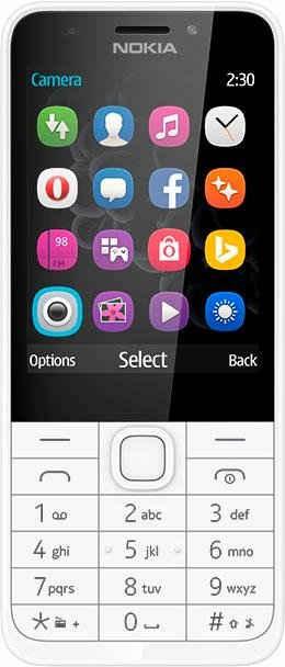 Nokia 230 - DualSIM Handy, 7,1 cm (2,8 Zoll) Display, S30+, 2,0 Megapixel