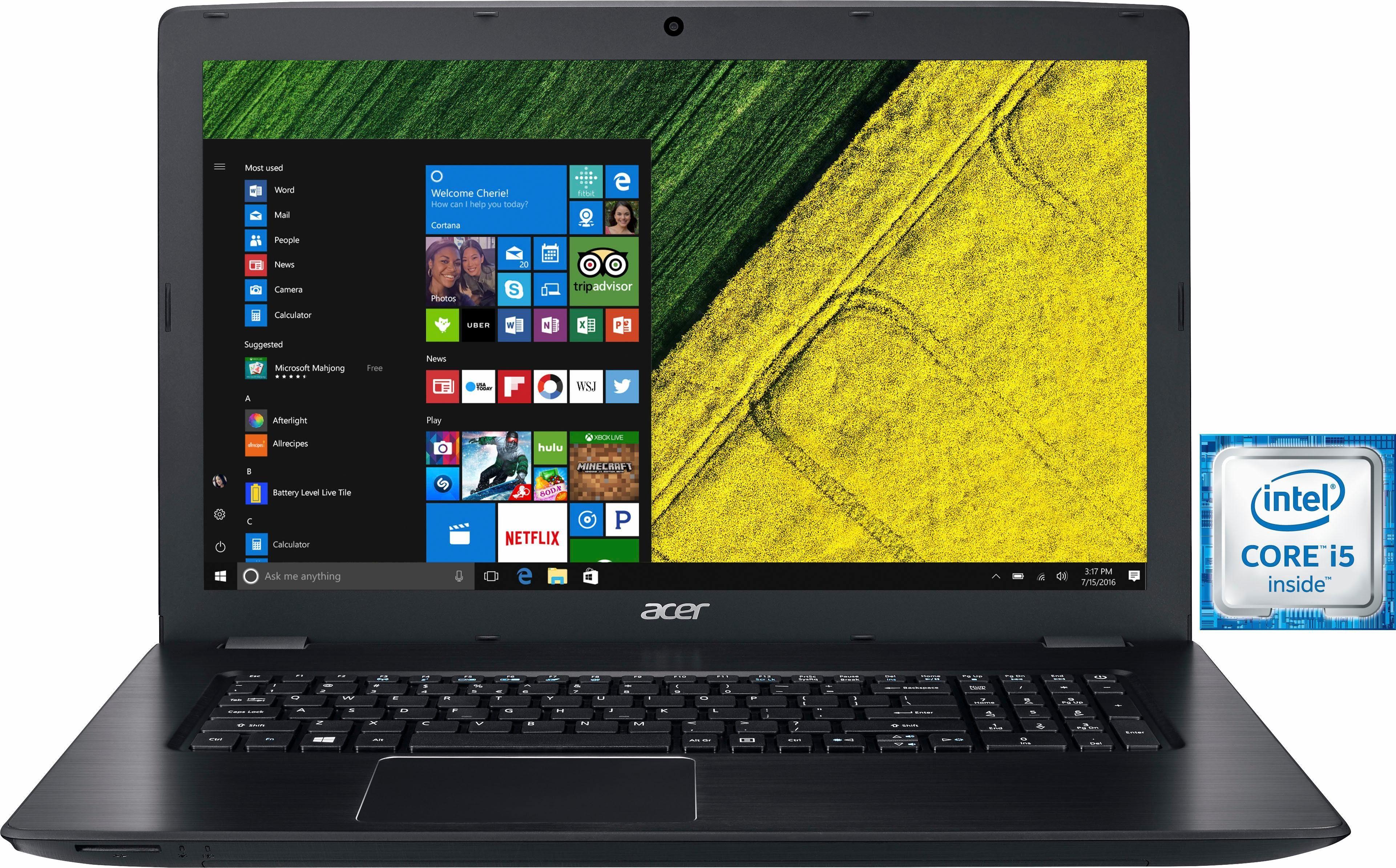 Acer Aspire E5-774G-540F Notebook, Intel® Core™ i5, 43,9 cm (17,3 Zoll), 1128 GB Speicher