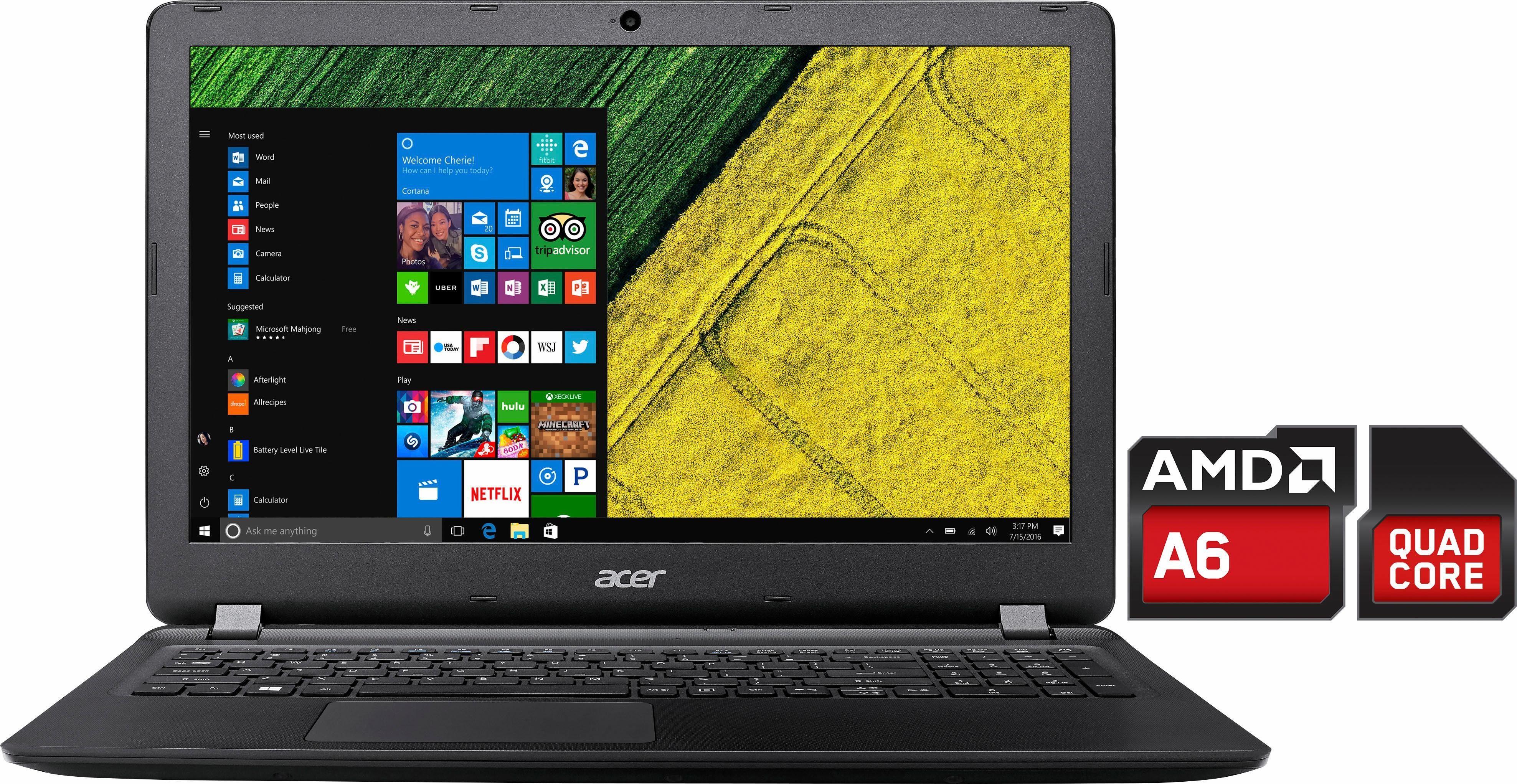Acer Aspire ES1-523-67SK Notebook, AMD A6, 39,6 cm (15,6 Zoll), 1000 GB Speicher, 4096 MB DDR3L
