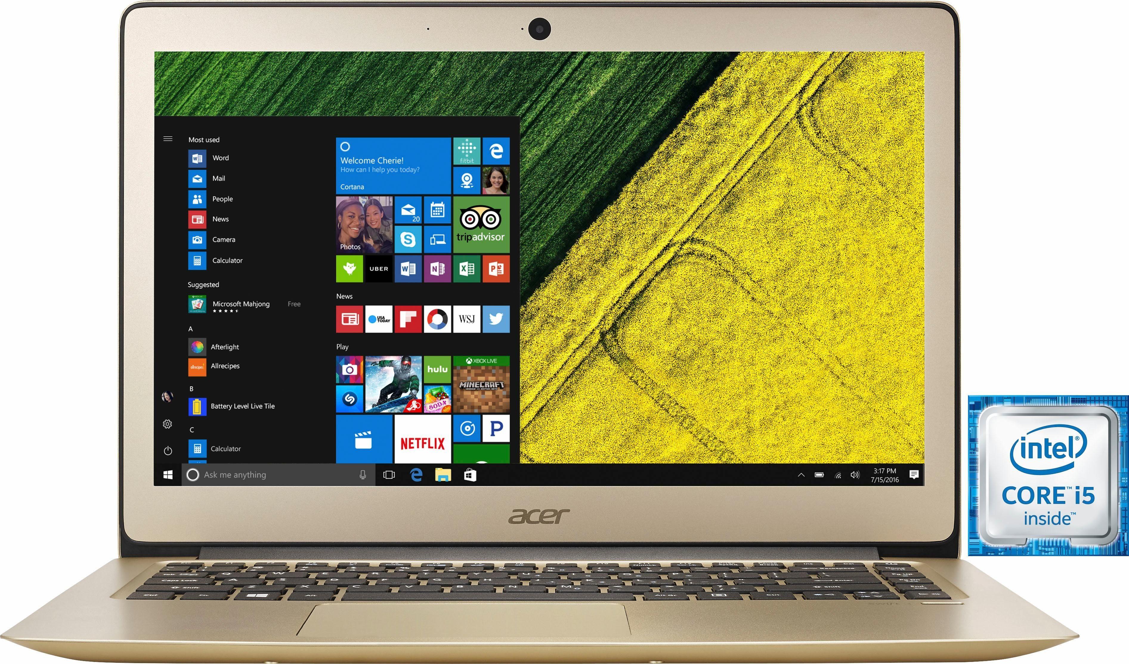 Acer Swift SF314-51-59S9 Notebook, Intel® Core™ i5, 35,6 cm (14 Zoll), 256 GB Speicher