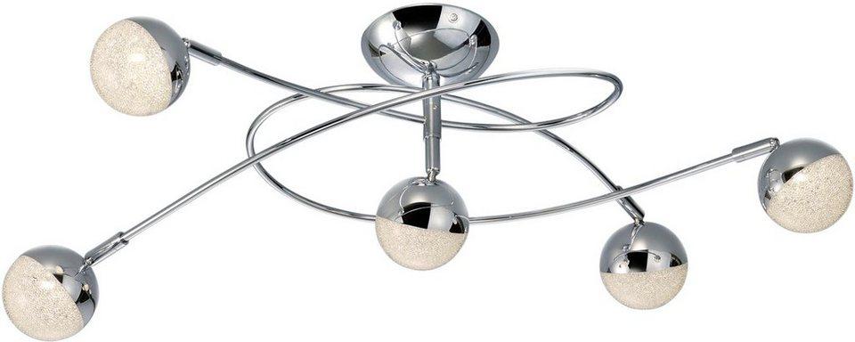 Trio Leuchten : trio leuchten led deckenleuchte chris 5 flammig mit kristalleffekt online kaufen otto ~ Watch28wear.com Haus und Dekorationen