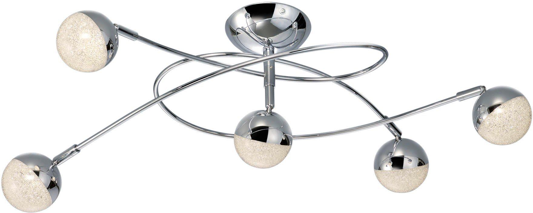TRIO Leuchten LED Deckenleuchte »CHRIS«, 5-flammig, mit Kristalleffekt