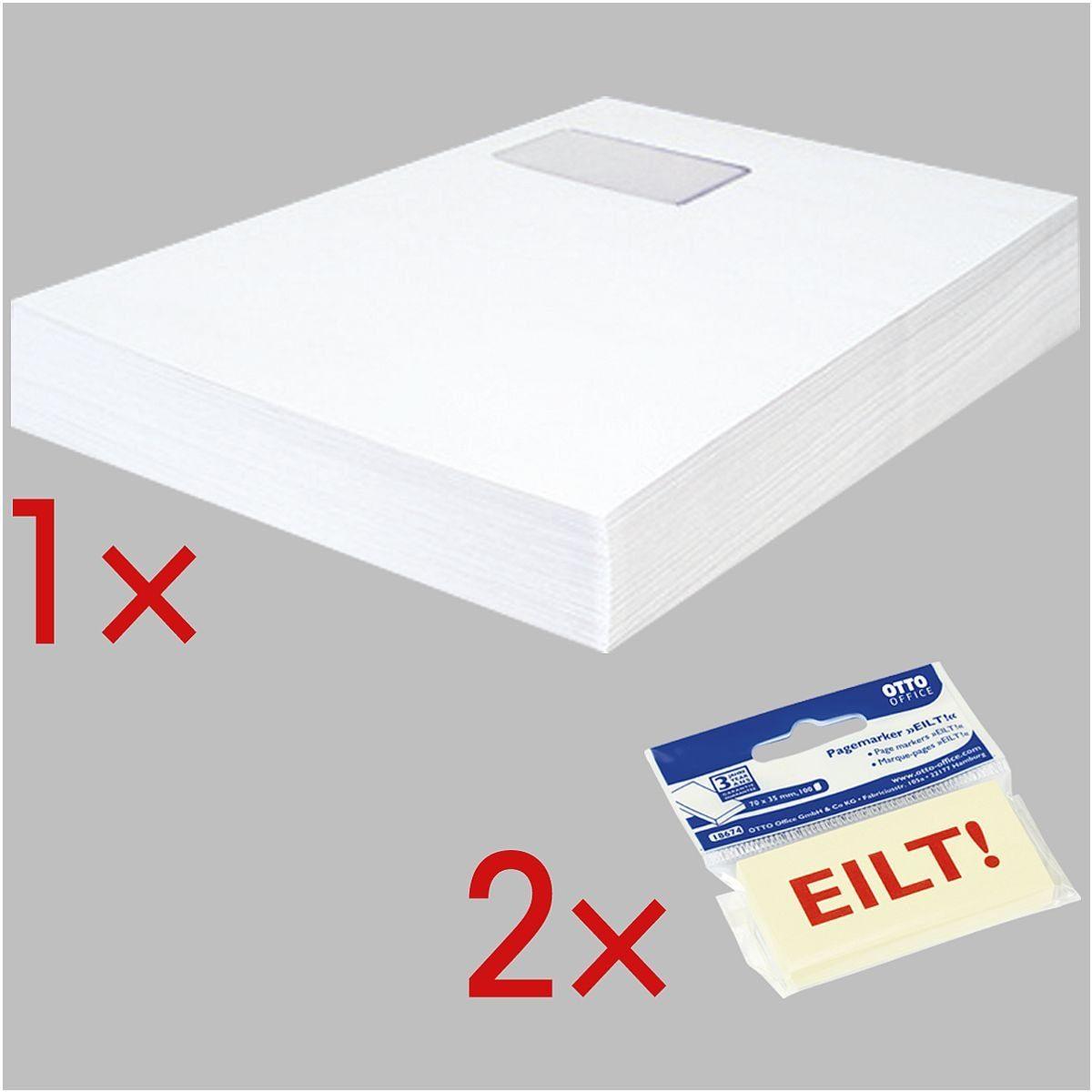 Steinmetz Versandtaschen inkl. 2x Haftstreifen »EILT« 1 Set