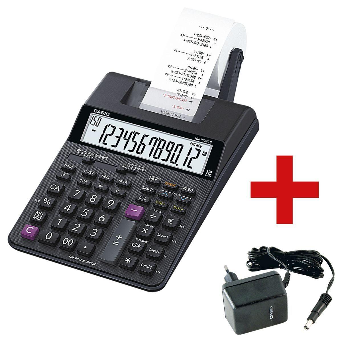 CASIO Druckender Tischrechner inkl. passendem Netzadapter »HR-150RCE« 1 Set
