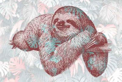 Architects Paper Fototapete »Atelier 47 Sloth Design 1«, glatt, botanisch, (4 St)