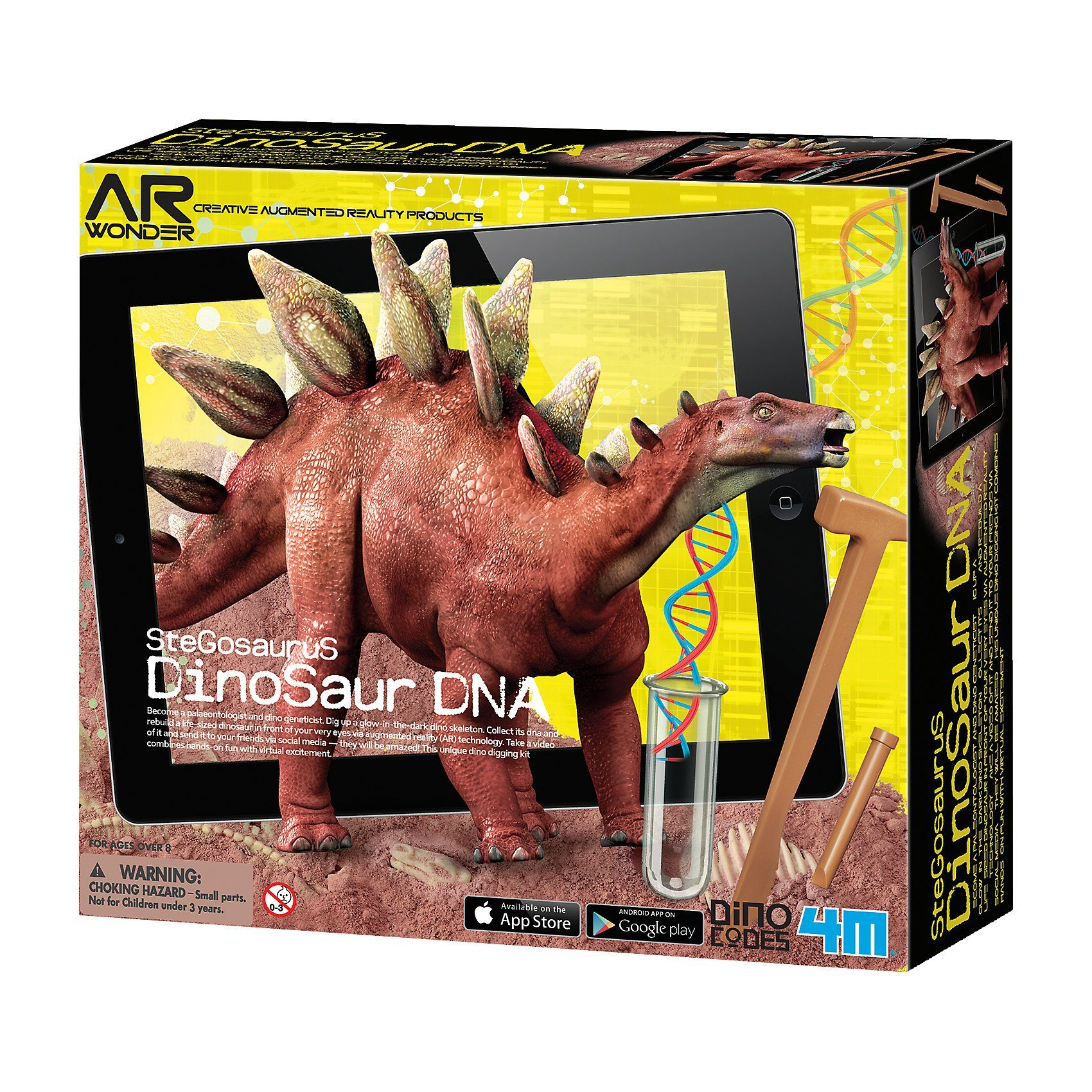 4M Ausgrabungsset Dinosaurier DNA - Stegosaurus (inkl. AR-Funki