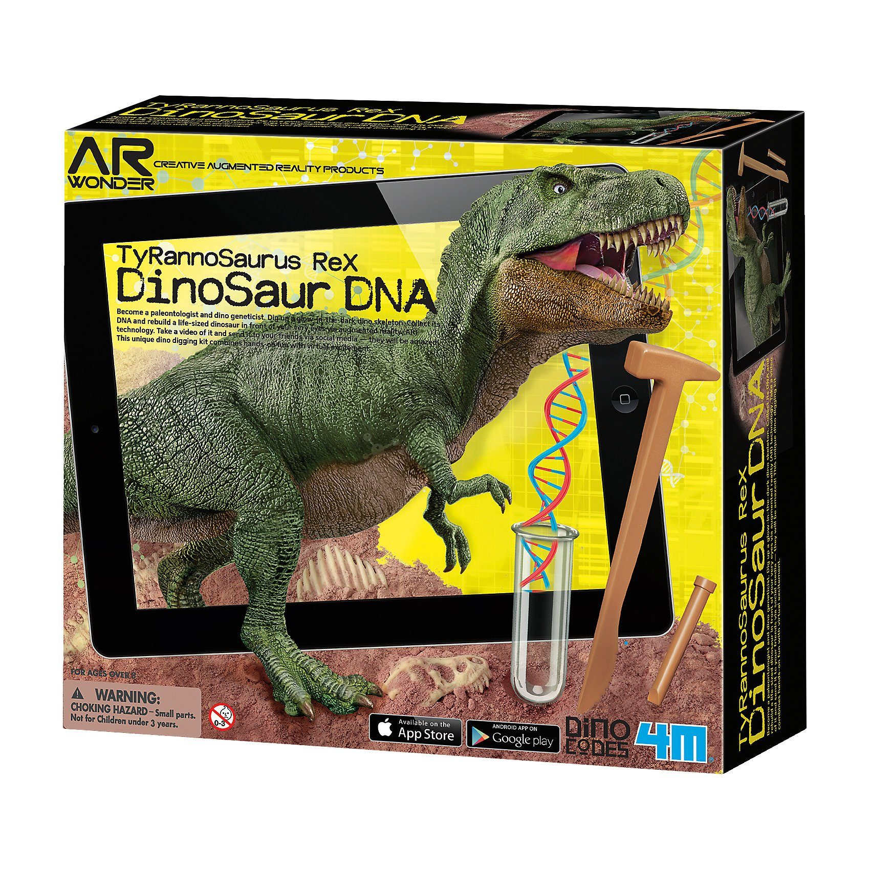 4M Ausgrabungsset Dinosaurier DNA - T-Rex (inkl. AR-Funkion)