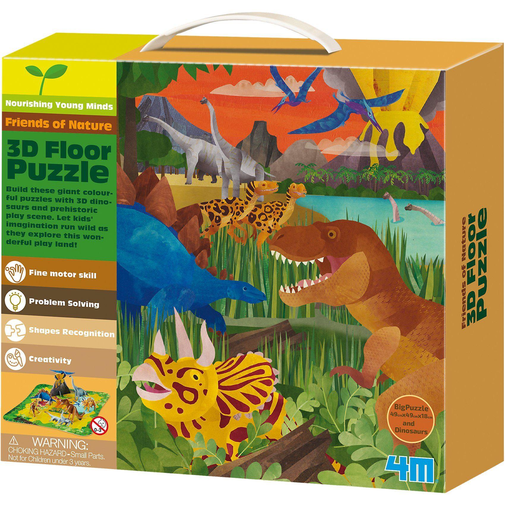 4M 3D Bodenpuzzle - Dinosaurier