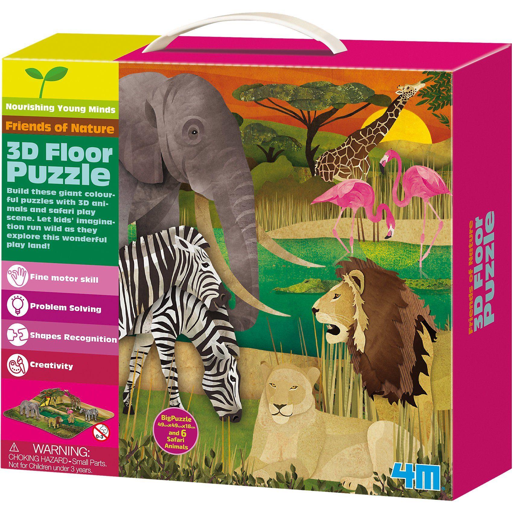 4M 3D Bodenpuzzle - Safari