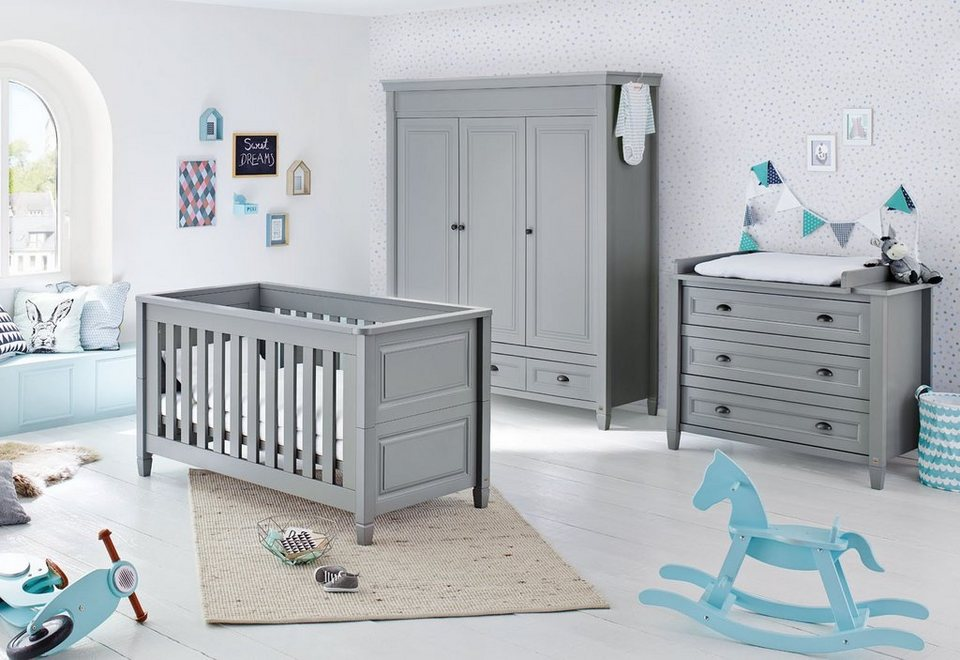 pinolino babyzimmer set 3 tlg kinderzimmer grisu breit. Black Bedroom Furniture Sets. Home Design Ideas
