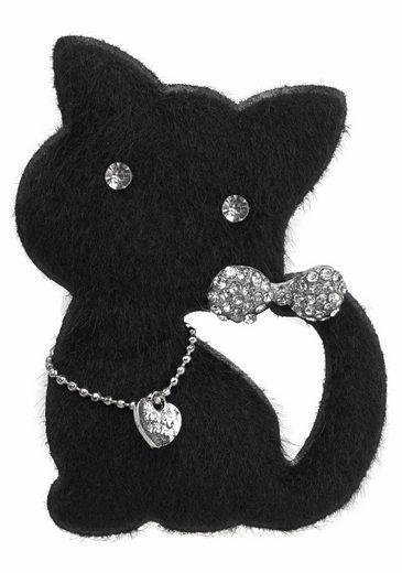 J.Jayz Brosche »Katze mit Anstecknadel« mit Glassteinen