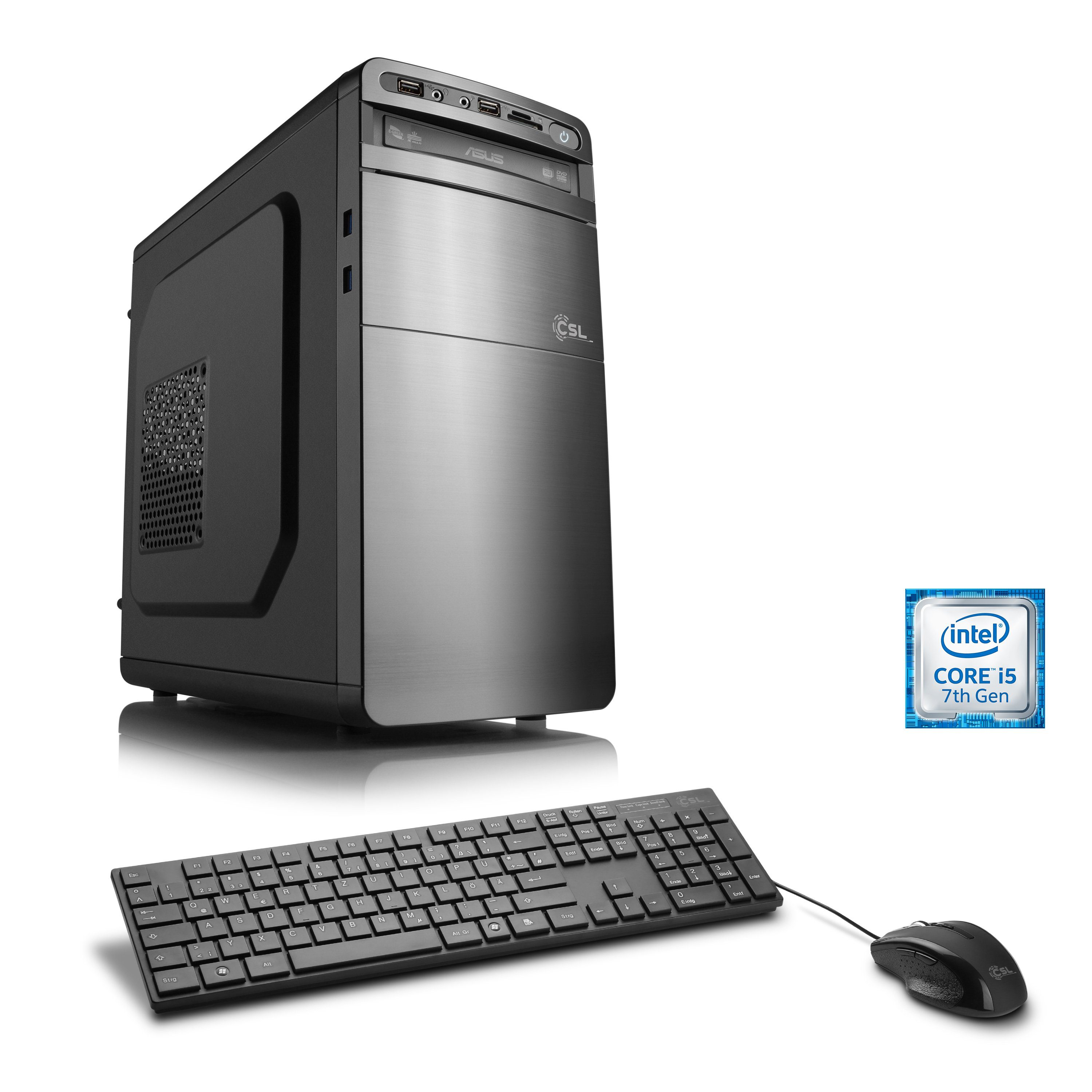 CSL Gaming PC | Core i5-7500 | HD 630 | 8 GB DDR4 | 240 GB SSD »Speed T5893 Windows 10 Home«