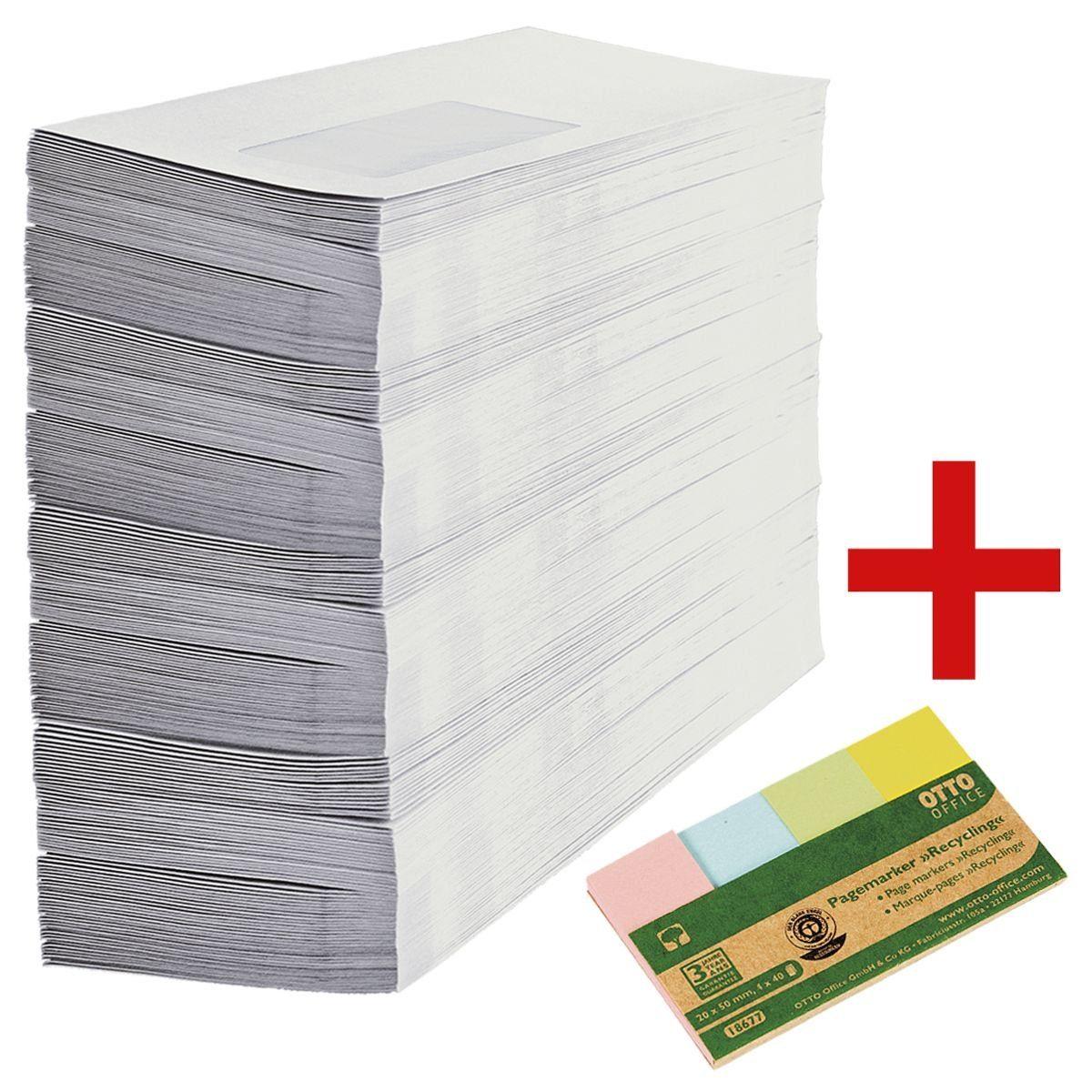 OTTOOFFICE_NATURE Recycling-Briefumschläge inkl. Haftstreifen »Recycl... 1 Set