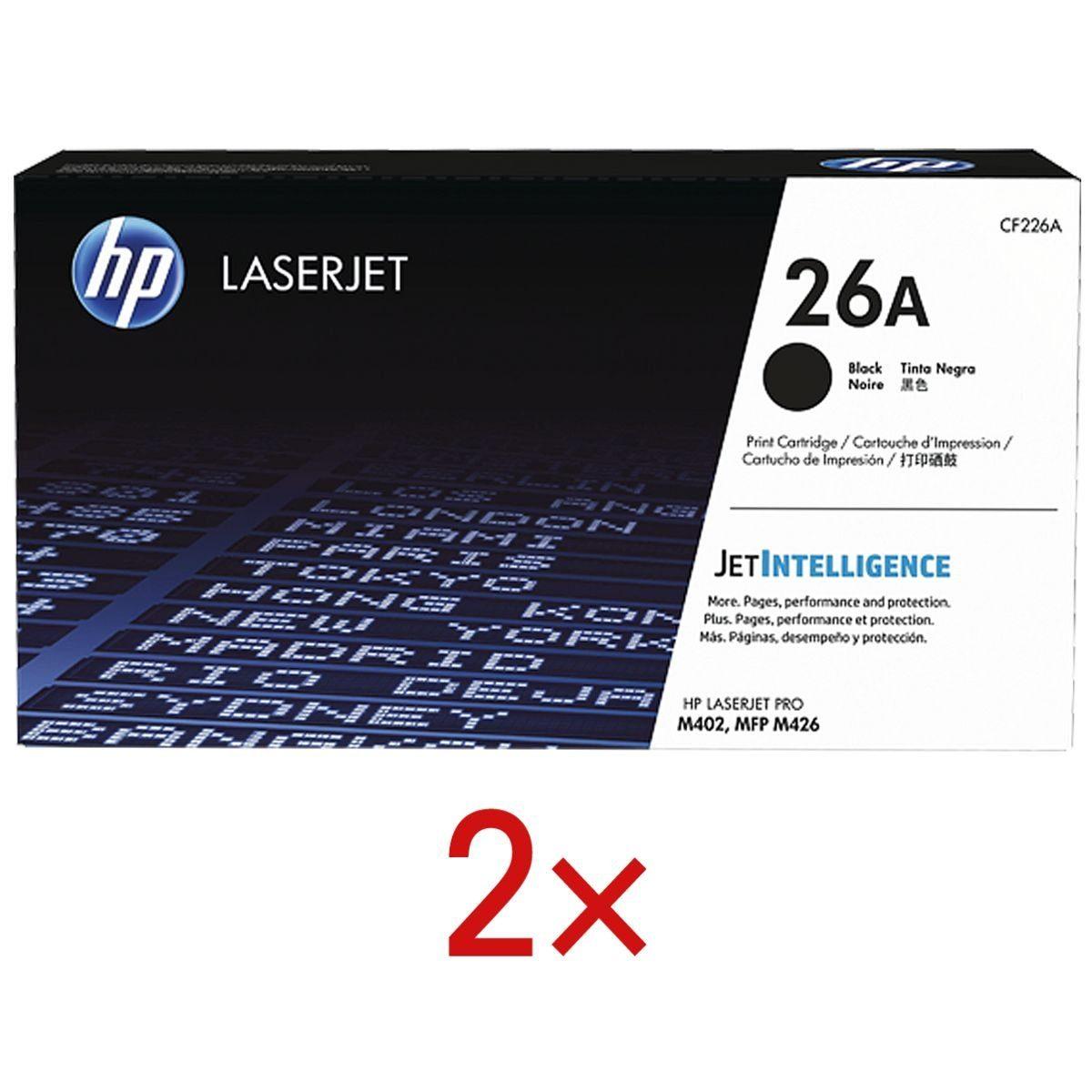 HP 2x Druckkassette 26A »HP CF226A« 1 Set