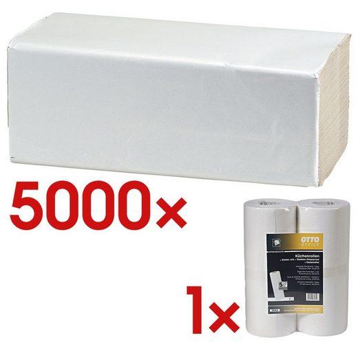 OTTOOFFICE BUDGET Papierhandtücher inkl. Küchenrollen 1 Set