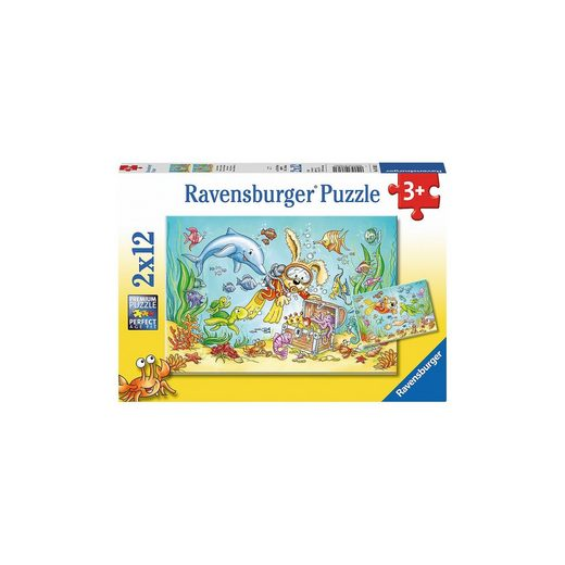 Ravensburger Puzzleset 2 x 12 Teile Tauchabenteuer