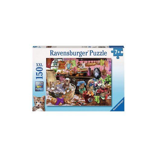 Ravensburger Puzzle 150 Teile XXL Katzen in der Küche