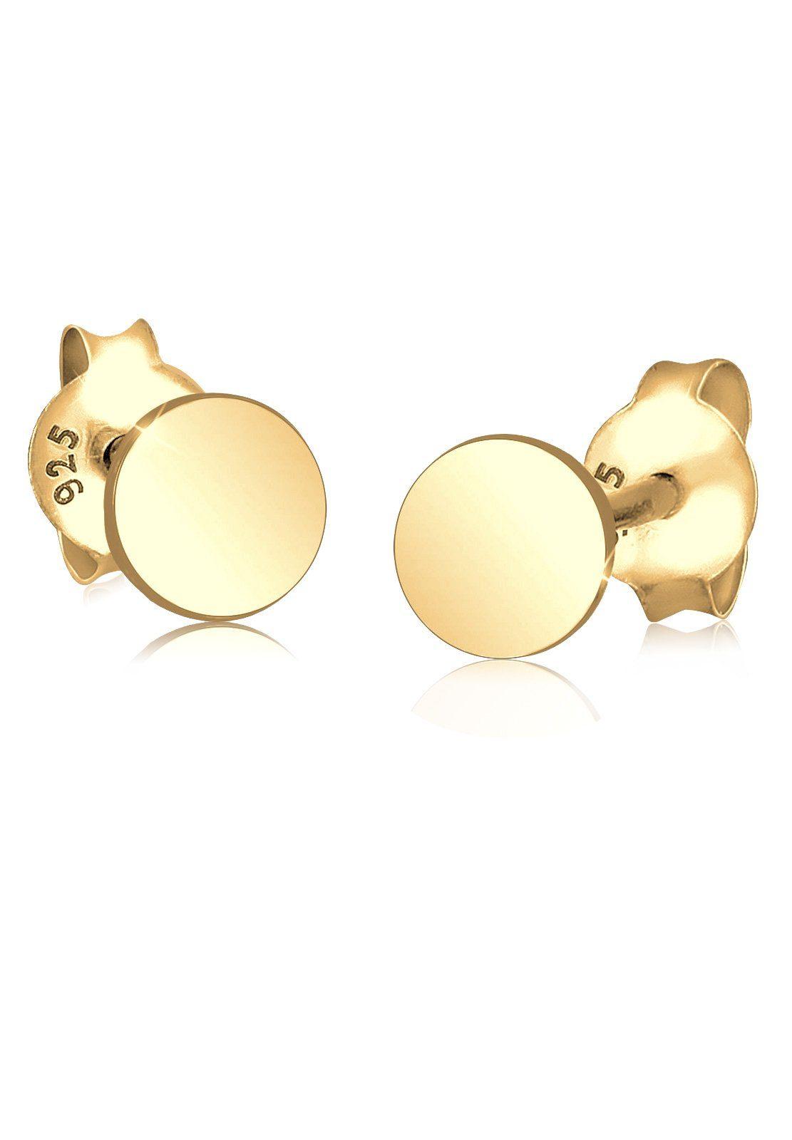 GOLDHIMMEL Ohrringe »Kreis Basic Geo Trend 925 Silber vergoldet«